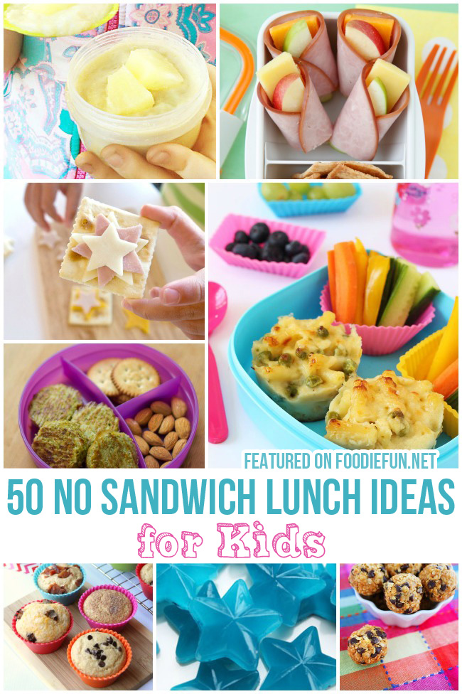 If your kids are tired of sandwiches, check out these ideas! 20 non sandwich lunch ideas for kids that are yummy and kid approved! Find this Pin and more on Food by Tiffany McKinzie. Non Sandwich Lunch Ideas for Kids - 20 Easy Lunch Ideas for Kids Homemade