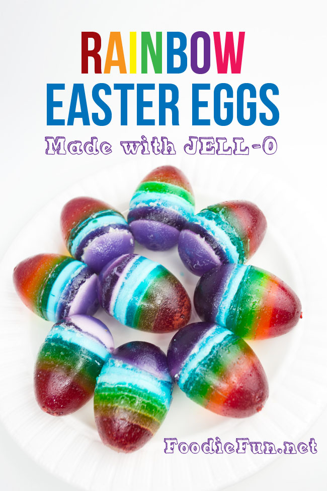 Rainbow JELL-O Easter Eggs