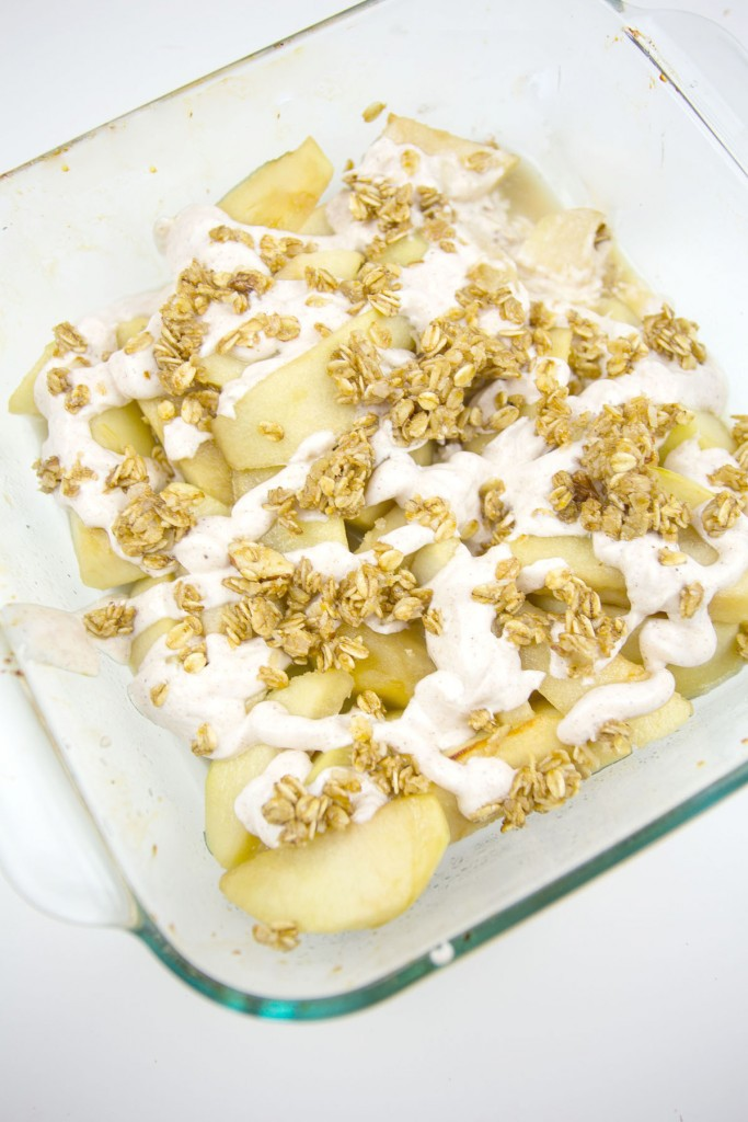 Baked Apples with Yogurt and Granola